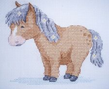 KL120 Poppy Pony (Horse) Counted Cross Stitch Kit by Genny Haines