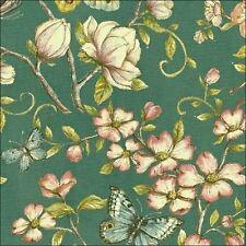 Windham tejidos Papillon Mariposas en verde azulado tejido de algodón