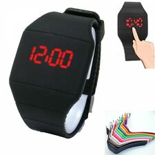 Driver Men's Luxury Touch Screen LED Digital Rubber Silicone Sport Wrist Watch