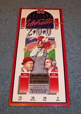 Nebraska Huskers vs Colorado 200th Sellout Game Ticket Memorial Stadium 1994