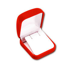 24 PCS CLASSIC VELOUR LARGE EARRING/PENDANT BOX, RED