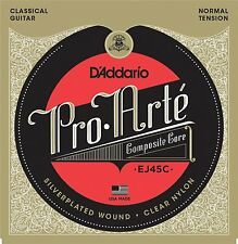 D'Addario EJ45C Pro Arte Classical Guitar Strings Composite Core; silver & clear