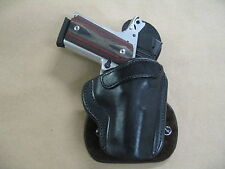 Colt Defender 1911 OWB All Leather Molded Paddle Holster CCW BLACK RH