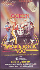 Queen We Will Rock You original VHS video cassette