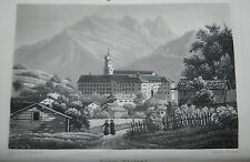 Kaiser – Die Heilquelle zu Pfäfers – 1833 – Mit 5 Aquatinta-Tafeln