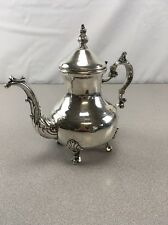 VINTAGE F.B. ROGERS SILVERPLATE TEA POT FOOTED