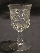 Heisey Greek Key Burgundy Wine Goblet