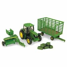 NEW John Deere 6210R Tractor with 338 Square Baler & Bale Wagon 1/64 (45439)