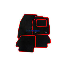 FORD MONDEO (01-07) TAILORED TAILORED BLACK CARPET MATS+ ROSSO RED EDGING