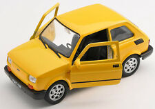 Spedizione LAMPO FIAT 126 P GIALLO/YELLOW Welly Modello Auto 1:27 NUOVO & OVP