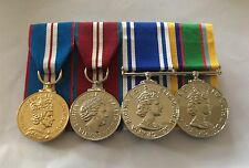 Golden, Diamond Jubilee, Police LSGC, Army Cadet, Full Size Court Mounted Medals