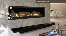 "Majestic VWDV70NTSC 70"" Aura Linear Direct Vent Gas Fireplace Remote & Lighting"