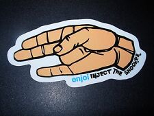 "ENJOI Inject The Shocker Sticker 3.5 X 2.5"" great for skateboards helmets decal"