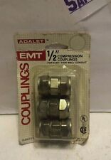 ADALET EMT COUPLINGS 1/2 Compression Couplings for E.M.T. THIN WALL CONDUIT 3