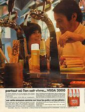 Publicité Advertising 1970  Bière VEGA 2000
