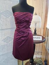 2146  ALFRED ANGELO 7231 BERRY  SZ 12 COCKTAIL BRIDESMAID FORMAL DRESS GOWN