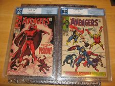 Avengers #57 PGX 7.0 + Avengers #58 PGX 8.0 1st and 2nd Appearance of the Vision