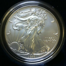 2011 AMERICAN EAGLE ONE OUNCE SILVER UNCIRCULATED COIN W/COA