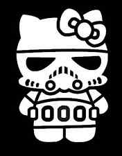 HELLO KITTY STORM TROOPER Vinile Adesivo Decalcomania