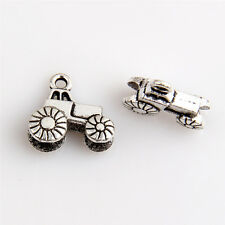 25 Tractor Tibetan Silver Charms Pendants Jewelry Making Findings 0E0C1F