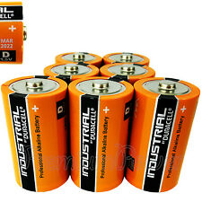 7 x Duracell D Size batteries Industrial Procell Alkaline LR20 MN1300 MONO 1.5V