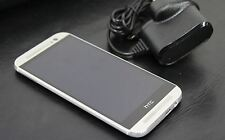 "HTC One M8 16GB Glacial Silver Mobile 5"" 4MP Android Smartphone Unlocked"