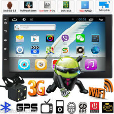"Camera+Android Quad Core 7"" Double 2Din Car Stereo GPS MP5 Player Radio Wifi 3G"