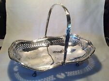 VINTAGE SILVER PLATED SWING HANDLE BASKET FRUIT WEDDING FLOWER ARRANGING