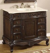 40 Inch Single Sink Bathroom Vanity with Cream Marble Top - Item 4140