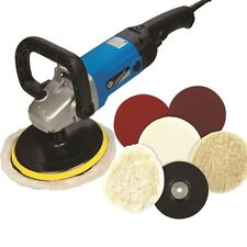 Electric Sander Polisher Car Body Buffer Machine and 180mm Polishing Sanding Kit
