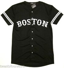 NWT Topman by Topshop Boston Mesh Baseball T Shirt Button Front in Black sz XXS