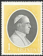 Argentina 1958 Pope Pious XII/Popes/People/Religion 1v (n42927)