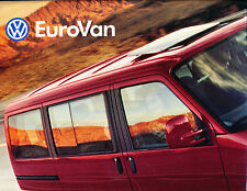 1999 VW Volkswagen EuroVan and Camper MV Original Car Sales Brochure