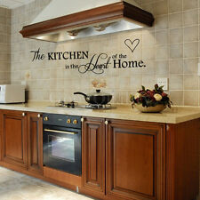 Removable Black Wall Sticker PVC Quote Kitchen+Home Mural Art DIY Decal Decor