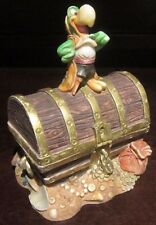 RARE Disney LE Harmony Kingdom Treasure Chest Donald Duck Trinket Box Figure