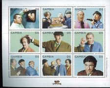 THREE STOOGES #2200 MNH Sheet of 9 - Gambia E74