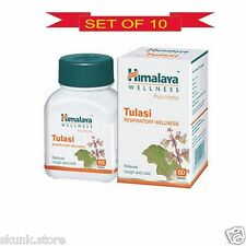 10 X 60 Himalaya Herbal Tulasi Tulsi Holy Basil Relieves Cough & Cold Pure Herb