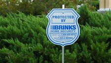 1 Brinks Alarm Security Yard Sign 4 Adt'l Reflective Home Window Decal Stickers