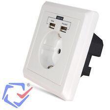 Maclean MCE73 Prise de courant avec USB tension de sortie: 5V DC 2,1A