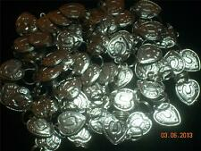 Wholesale Lot #220 Heart Good Luck Horseshoe Pewter Charm Use As Pendant Earring
