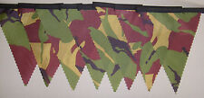 Ripstop Army Camouflage Bunting 2mtrs Long Garden party Childs gift Decoration