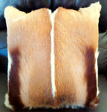 AFRICAN GENUINE SPRINGBOK HIDE / SKIN CUSHION PILLOW with Insert
