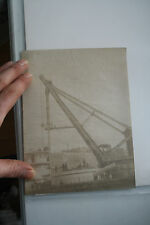 HMS VICTORIA orig albumen photo of  works to fit front turret  v rare image 1890