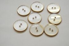 10pc 15mm Gold and Translucent Coat Cardigan Knitwear Kid Baby Button 3307