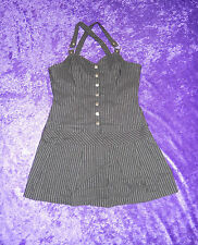 LIP SERVICE GANGSTA PRANKSTA BLACK/SILVER DRESS XL 53-171 NWOT
