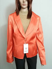 MARKAM Fashion New Ladies Orange Wet Look Formal Tweed Blazer Jacket sz 20 AO53