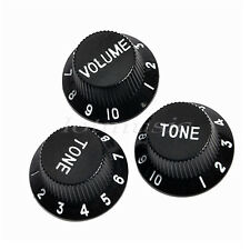 Guitar Control Knobs Knob Volume Tone For Fender Strat Replacement Parts Black
