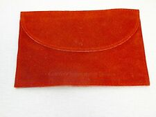 GENUINE CARTIER INTERNATIONAL RED SUEDE LEATHER WATCH OR JEWELRY POUCH