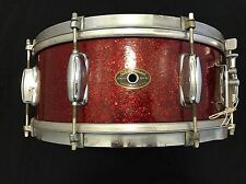 "Slingerland Vintage 50's 14"" Inch Red Sparkle 5.5x14 Snare Drum Chicago"