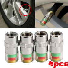 4pcs Car Auto Tire Pressure Monitor Valve Stem Cap Sensor Indicator Warning